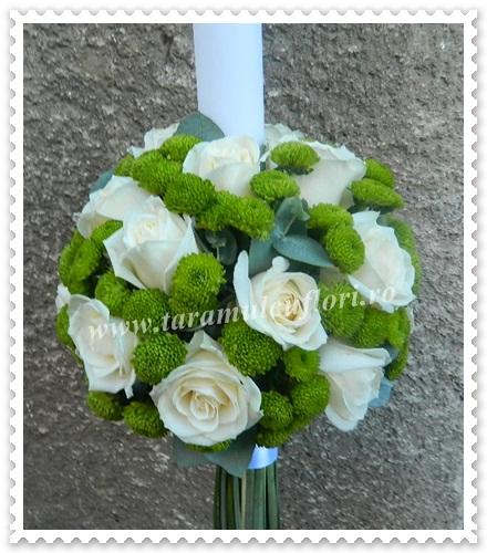 Lumanari de nunta din trandafiri si santinii.3885